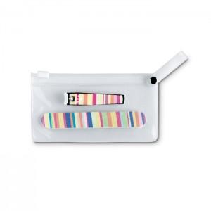 Manikiūro įrankiai skaidriame maišelyje