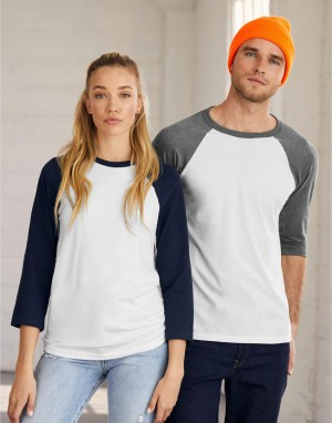 Universalūs beisbolo T-marškinėliai su 3/4 rankovėmis