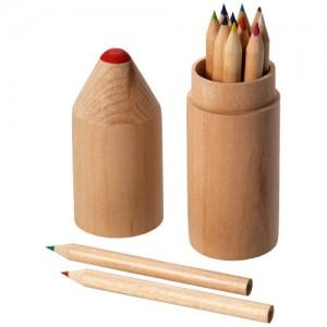 Woody medinis 12 vnt. spalvotų pieštukų rinkinys