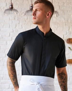 Tailored Fit Mandarin Collar Shirt.Vyriški marškiniai