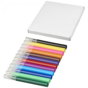 12 spalvų  žymeklių rinkinys