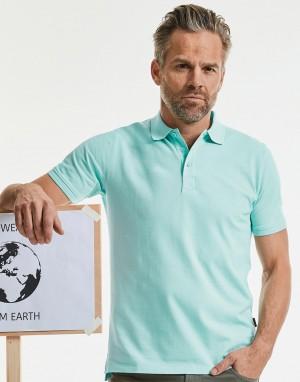 Vyriški polo marškinėliai iš ekologiško audinio