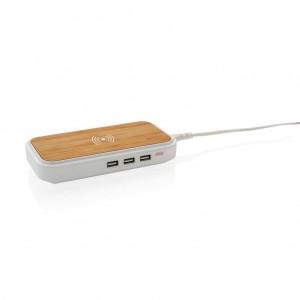 Bambuko 5 W belaidis įkroviklis su 3 USB jungtimis