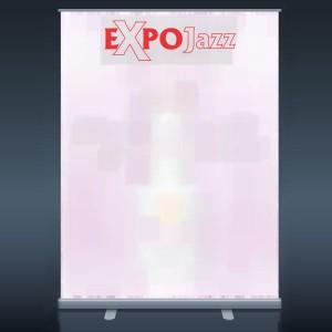 Ištraukiamas reklaminis mobilus stendas ExpoJazz Mike, 150x200 cm