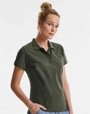 Moteriški polo marškinėliai iš ekologiško audinio