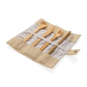 Daugkartinio naudojimo kelioninis  bambuko įrankių rinkinys