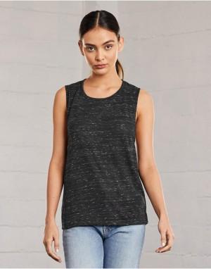 Moteriški laisvo, atpalaiduoto kritimo berankoviai viršutiniai marškinėliai su ovalia kaklo linija