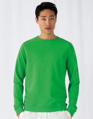 Universalus ekologiškas džemperis (iš prancūziško kilpinio audinio) su apvalia, prigludusia kaklo iškirpte