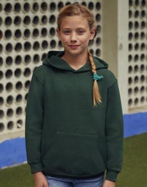 Vaikiškas klasikinis džemperis su gobtuvu