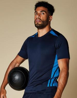 Vyriški klasikinio kirpimo sportiniai marškinėliai iš drėgmę ir oro cirkuliaciją kontroliuojančio audinio