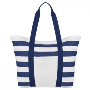 Dryžuotas paplūdimio krepšys