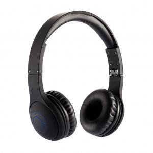 Sulankstomos belaidės ausinės, juodos spalvos