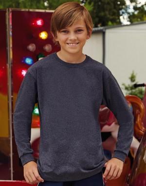 Ilgomis rankovėmis vaikiški marškinėliai iš storo audinio