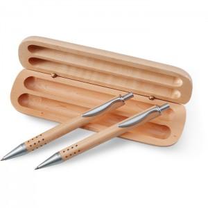 Rašiklių rinkinys medinėje dėžutėje