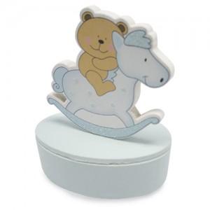 Dėžutė su dangteliu su arkliuko forma
