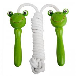 Varlės formos rankenomis virvė šuoliukams