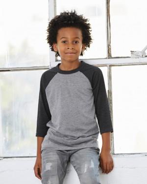 Beisbolo marškinėliai  jaunimui, su 3/4 rankovėmis