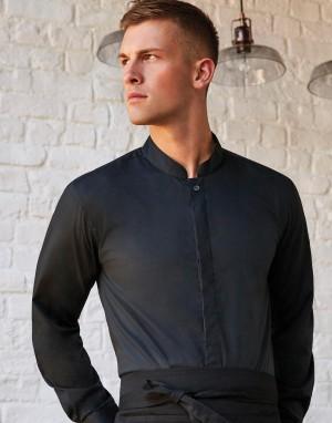 Tailored Fit Mandarin Collar Shirt. Vyriški marškiniai