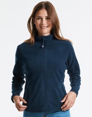 Formuojančio, aptempto kirpimo moteriškas mikroflisinis džemperis su viso ilgio užtrauktuku