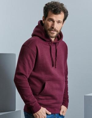 Vyriškos melanžinis džemperis su gobtuvu