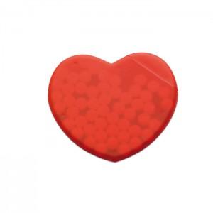 Širdies formos pipirmėtės saldainių dėžutė