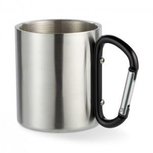 Metalinė puodelis su karabino rankena