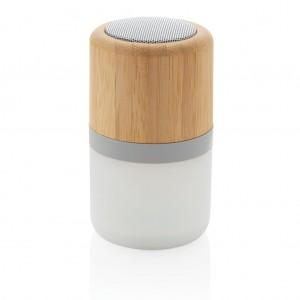 Garso kolonėlė iš bambuko, su spalvą keičiančia šviesa (3 W)