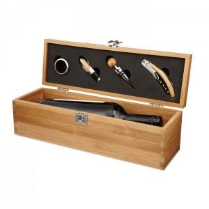 Bambuko dėžutė vynui