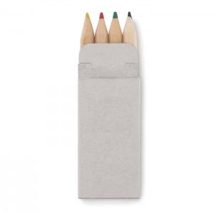 4 maži spalvoti pieštukai