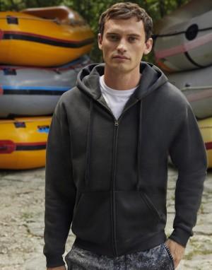 Vyriškas aukščiausios kokybės džemperis su gobtuvu ir su užtrauktuku