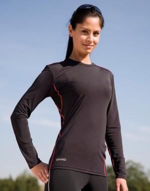 Sportiniai viršutiniai marškinėliai ilgomis rankovėmis