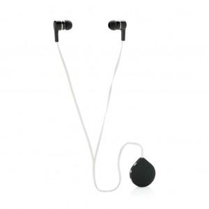 Belaidžio ryšio ausinės su spaustuku, juodos spalvos