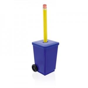 Šiukšliadėžės formos pieštuko drožtukas