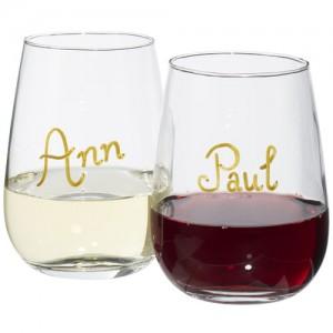 Barola firmos vyno stiklinių rinkinys su galimybe rašyti ant jų