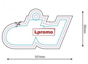 Automobiliniai kvapukai su reklamine spauda, forma lpf1130
