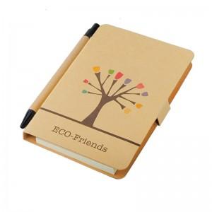 Medis 80x140 / 50p  užrašų knygelė su tušinuku