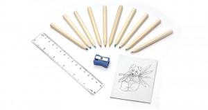 Spalvoti pieštukai su spalvinimo knygelė DECOR