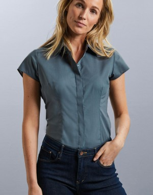 Ladies Fitted Poplin Shirt. Moteriški marškiniai