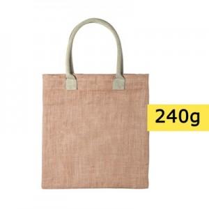 Džiuto pirkinių krepšys su medvilninėmis rankenomis