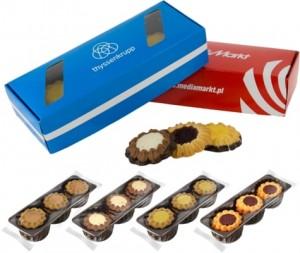 Smėlinės tešlos trapūs reklaminiai sausainiai su Jūsų įmonės reklama ar logotipu