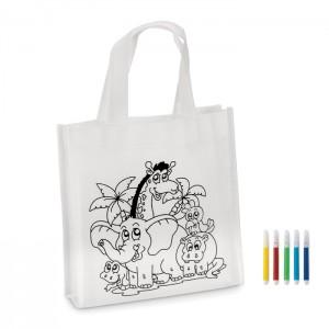 Pirkinių krepšelis spalvinimui