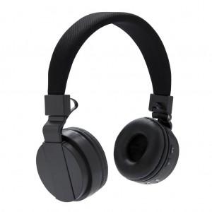 Sulankstomas belaidės ausinės, juodos spalos