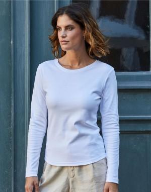 Moteriški tamprūs marškinėliai ilgomis rankovėmis