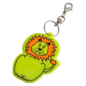 Liūtas šviesą atspindintis raktų pakabukas