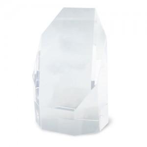 Prizmės formos stiklo trofėjus