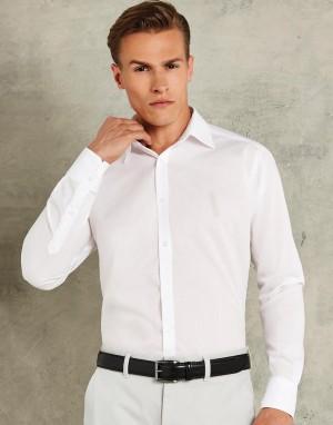Vyriški aptempti, liemenuoto kirpimo dalykiniai marškiniai ilgomis rankovėmis