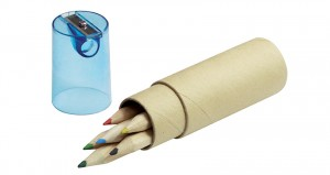 6 vnt spalvoti pieštukai FARVE su drožtuku