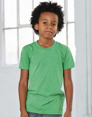Trikotažiniai marškinėliai trumpomis rankovėmis jaunimui (iš trijų audinių mišinio)