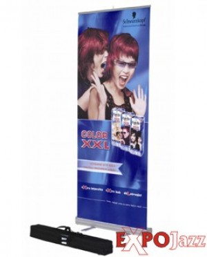 Mobilūs stendai roll up ExpoJazz James, 85x200 cm