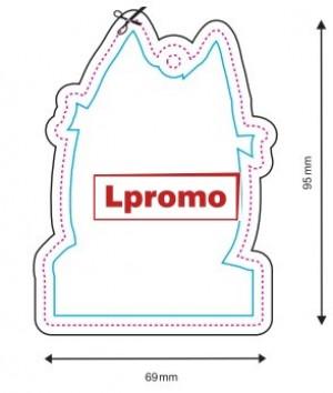 Automobiliniai kvapai su logotipu, forma lpf558